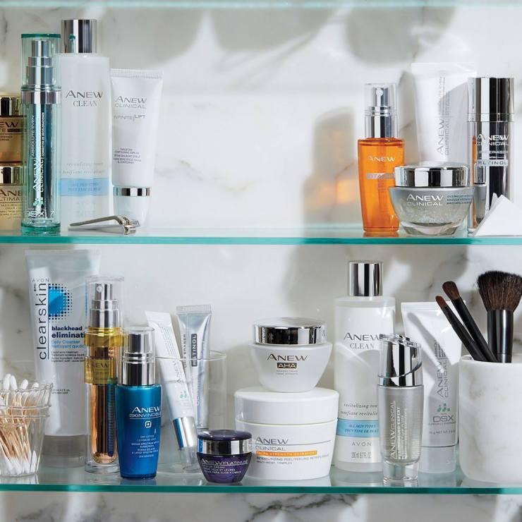 Skin Care in Cabinet
