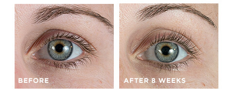 Before and after Unlimited Lashes